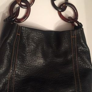 Kate Landry Purse/ Tote with Tortoise Shell Links